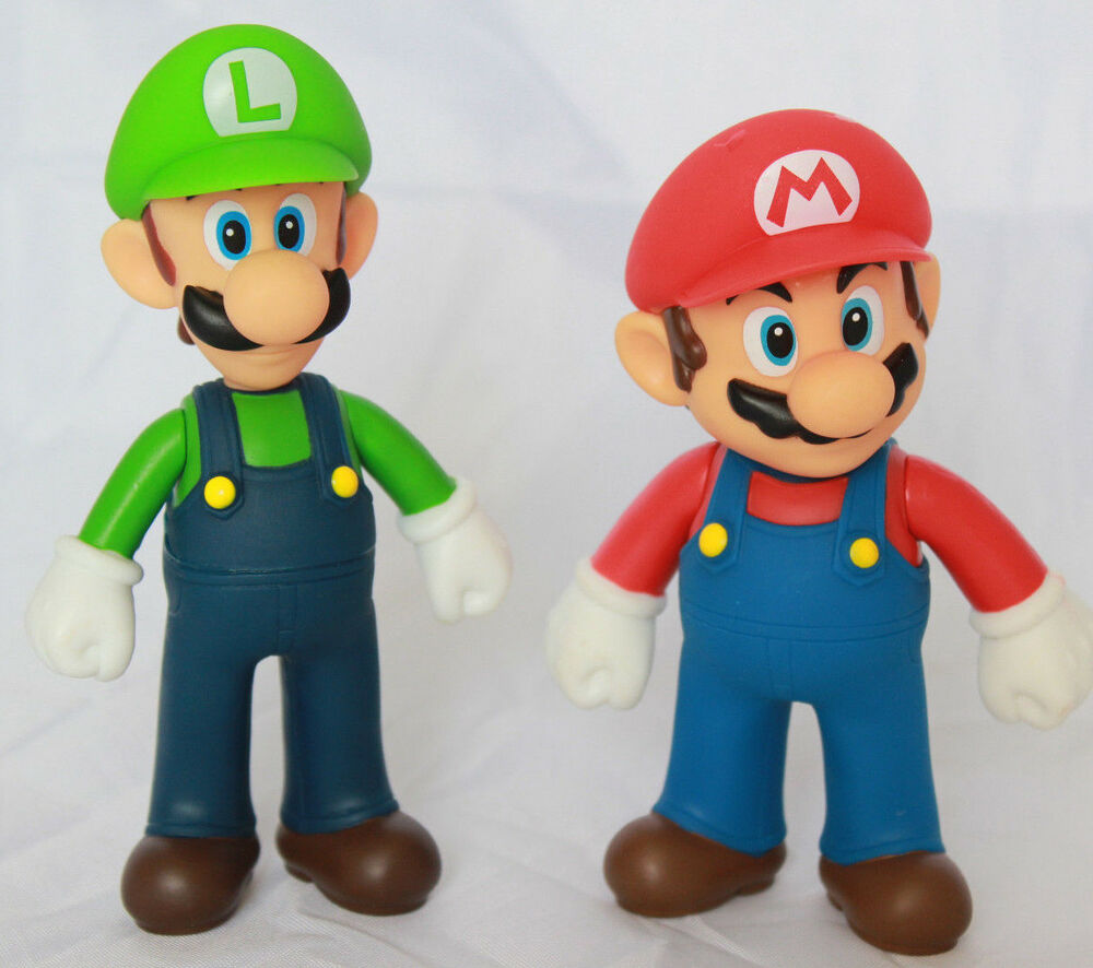 Super Mario Brothers Bros 5 Quot Action Figure Mario Amp Luigi