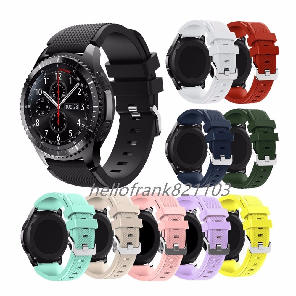 silicone sport bracelet watch band strap for samsung gear s3 classic frontier ebay. Black Bedroom Furniture Sets. Home Design Ideas