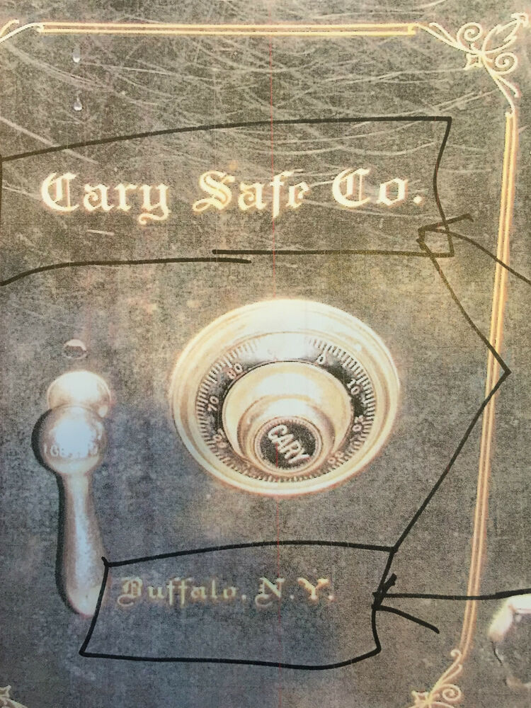 Cary Safe Co. Lettering, Emblem, Stickers, Decal, NEW Reproduction ...