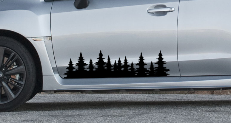 Custom Subaru Outback >> Forest tree side decal graphics - sticker outdoors subaru impreza forester | eBay