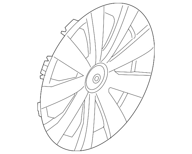 Genuine Volkswagen Wheel Cover 5c0 601 147 Qlv