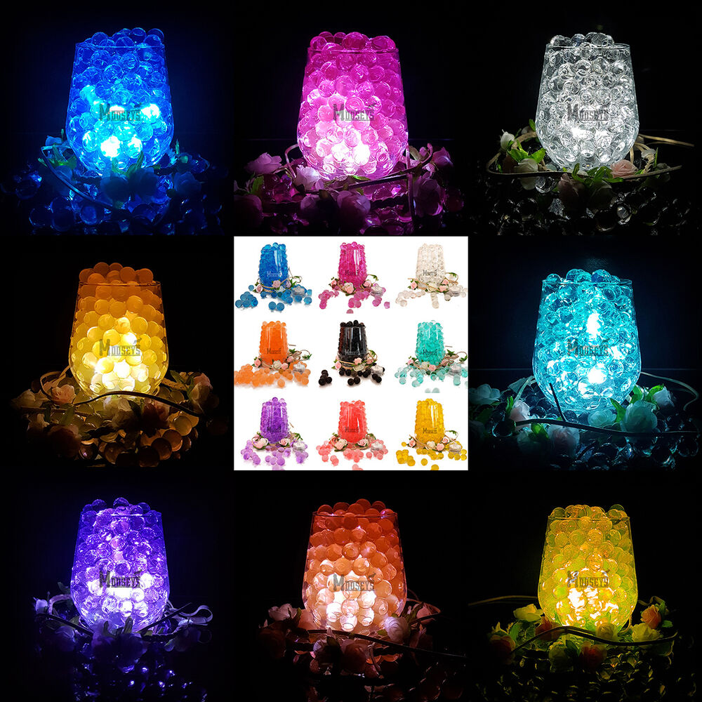Wedding party table top vase decoration led light with bio for Best light decoration