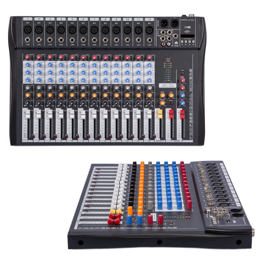 elm ct 120s 12 channel professional live studio audio mixer usb mixing console ebay. Black Bedroom Furniture Sets. Home Design Ideas