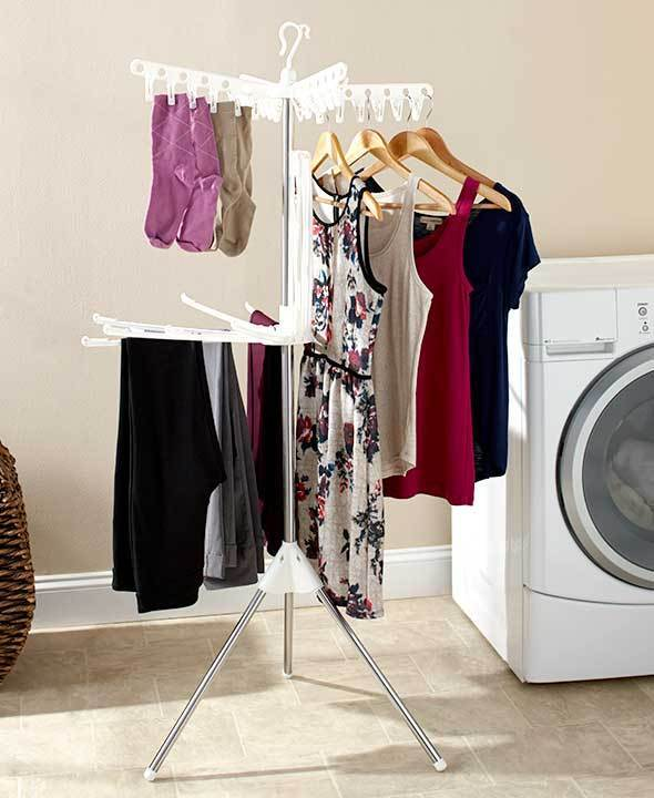 Foldable Clothes Laundry 2 Tier Drying Rack Dryer Hanger