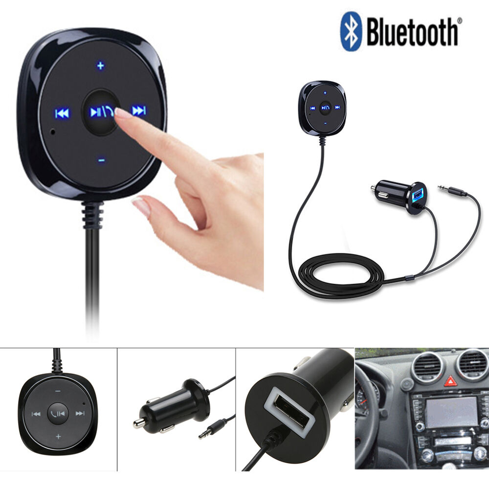 3 5mm Car Bluetooth Music Receiver Adapter Dongle: 3.5mm Car AUX Adapter Bluetooth Wireless Music Receiver Handsfree For IPhone HTC