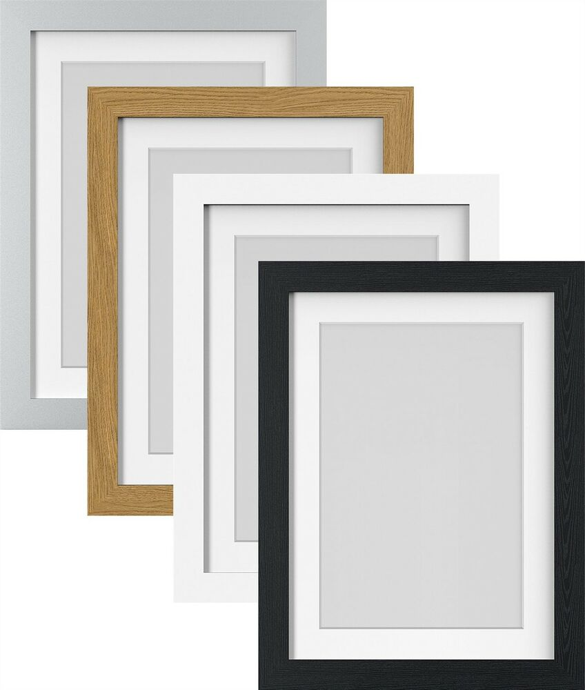 White Black Oak Silver Large Photo Picture Frame Poster