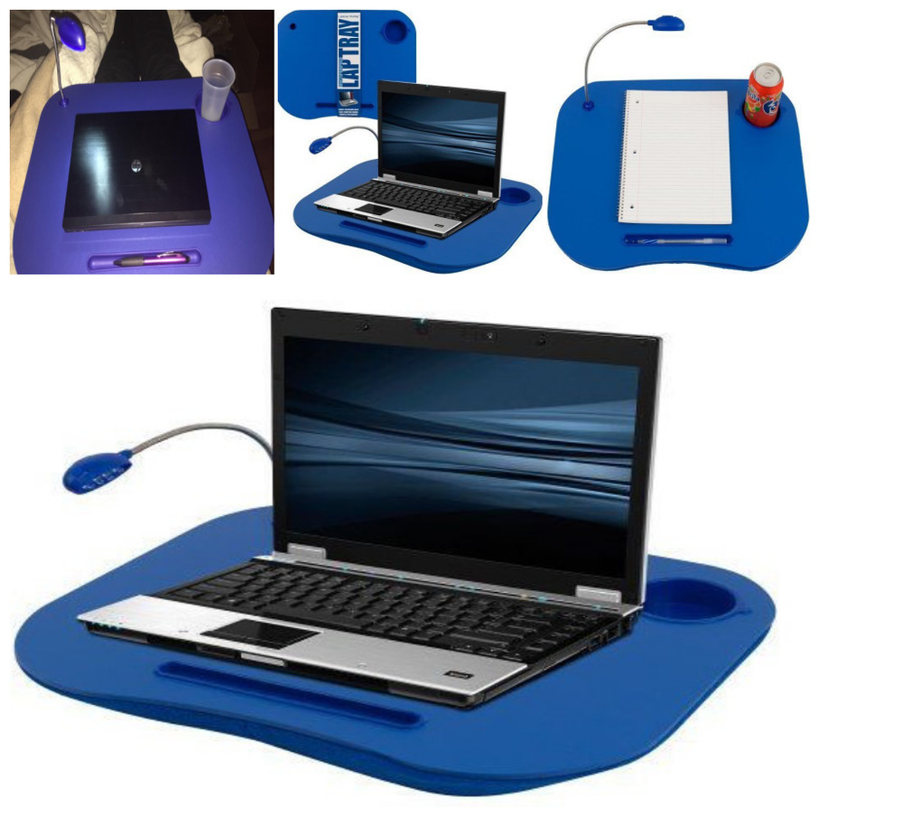 Laptop Desk Amp Cup Holder Lapdesk Portable Bed Tray Table