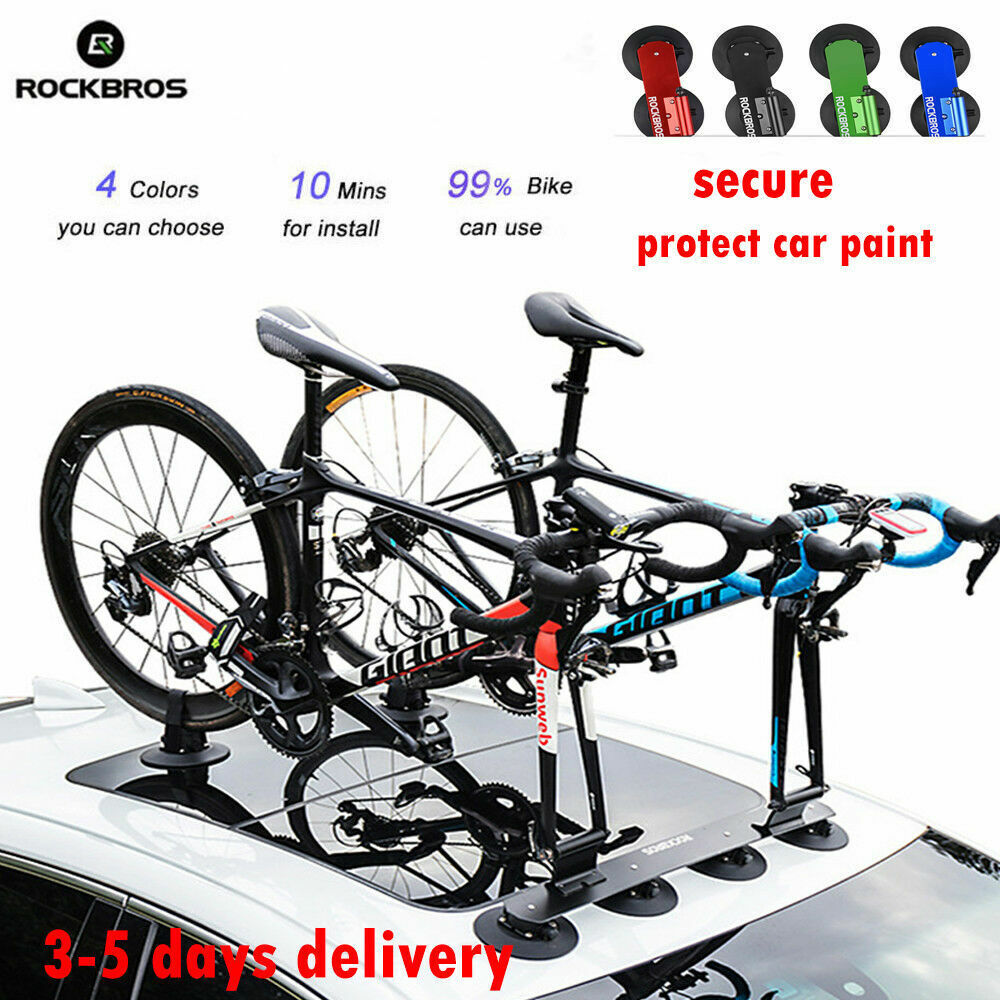Rockbros Sucker Roof Top Bicycle Rack Carrier Easy Install