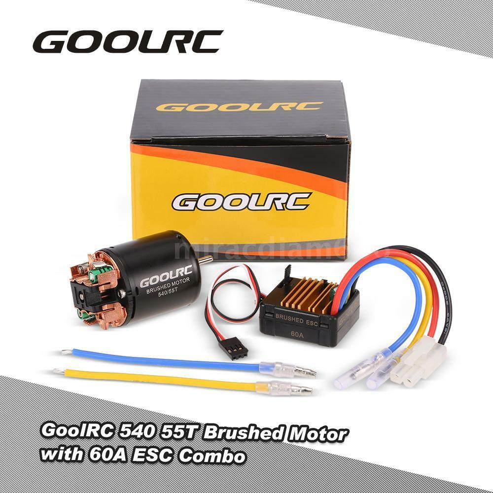 goolrc 540 55t brushed motor with 60a esc combo for 1 10 axial scx10 rc car j2d8 ebay. Black Bedroom Furniture Sets. Home Design Ideas