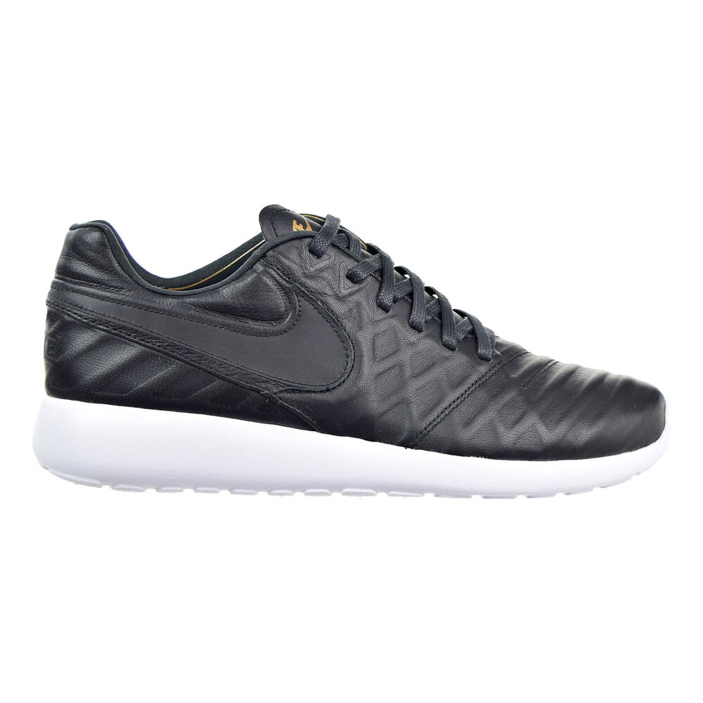 74bdc79f75f0 Details about Nike Roshe Tiempo VI QS Men s Shoes Black Black Metallic Gold White  853535-007