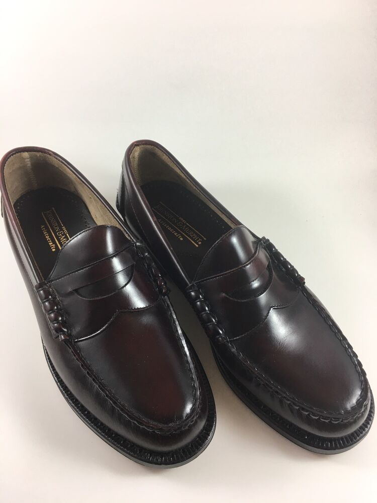 JOHNSTON & MURPHY Hayes Dress Penny Loafers Men's BURGUNDY ...