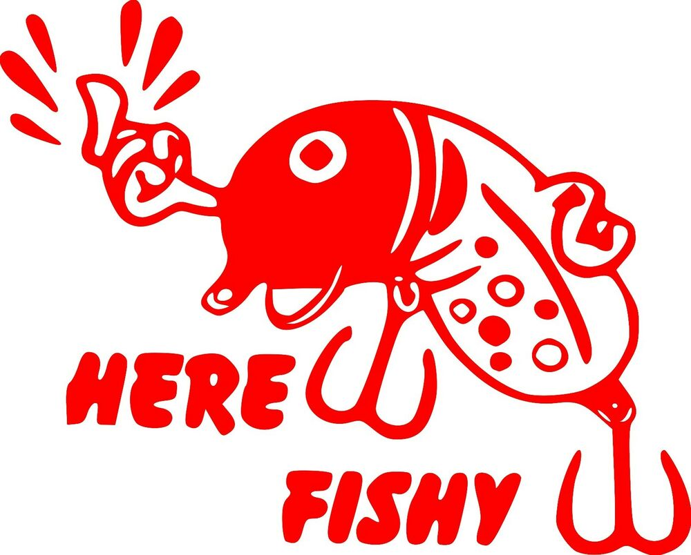 Funny Fishing Lure Custom Vinyl Decal Sticker Car Truck Boat Trailer ...