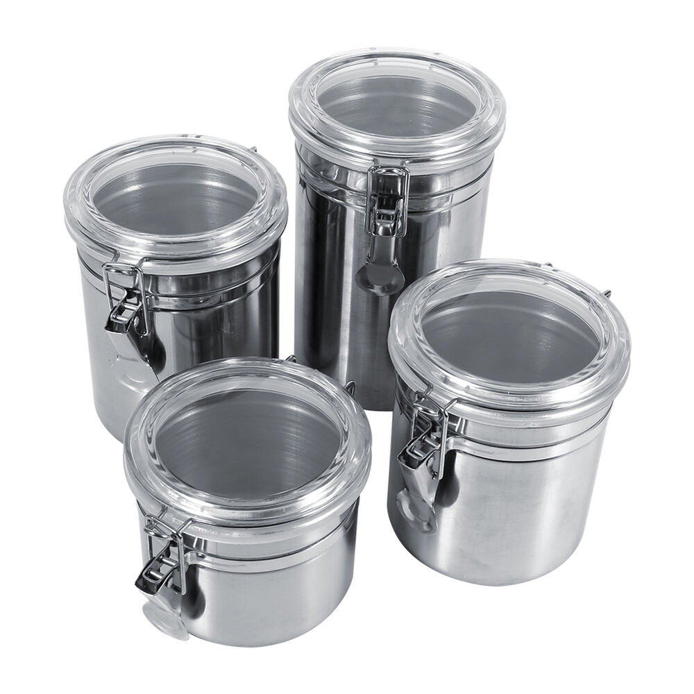 stainless steel storage containers for kitchen stainless steel container jar set kitchen storage coffee 9420