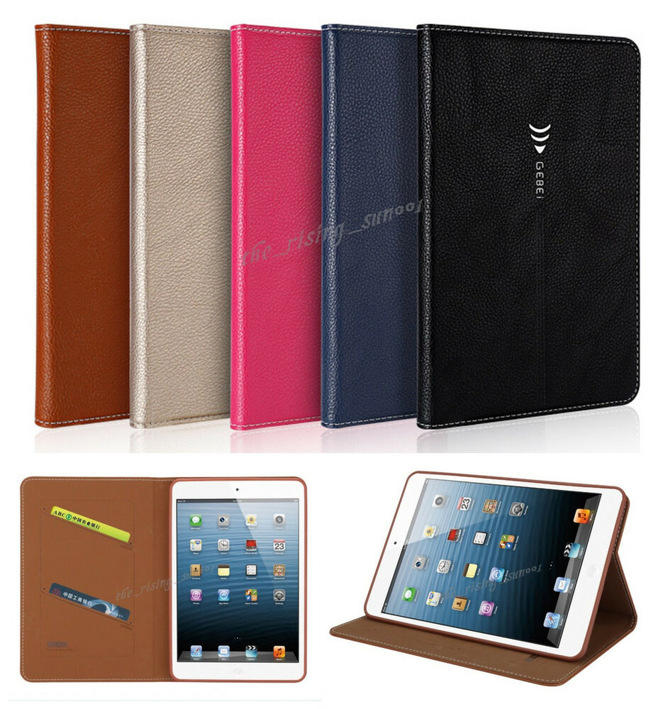 leder flip cover case schutz h lle etui f r apple ipad. Black Bedroom Furniture Sets. Home Design Ideas