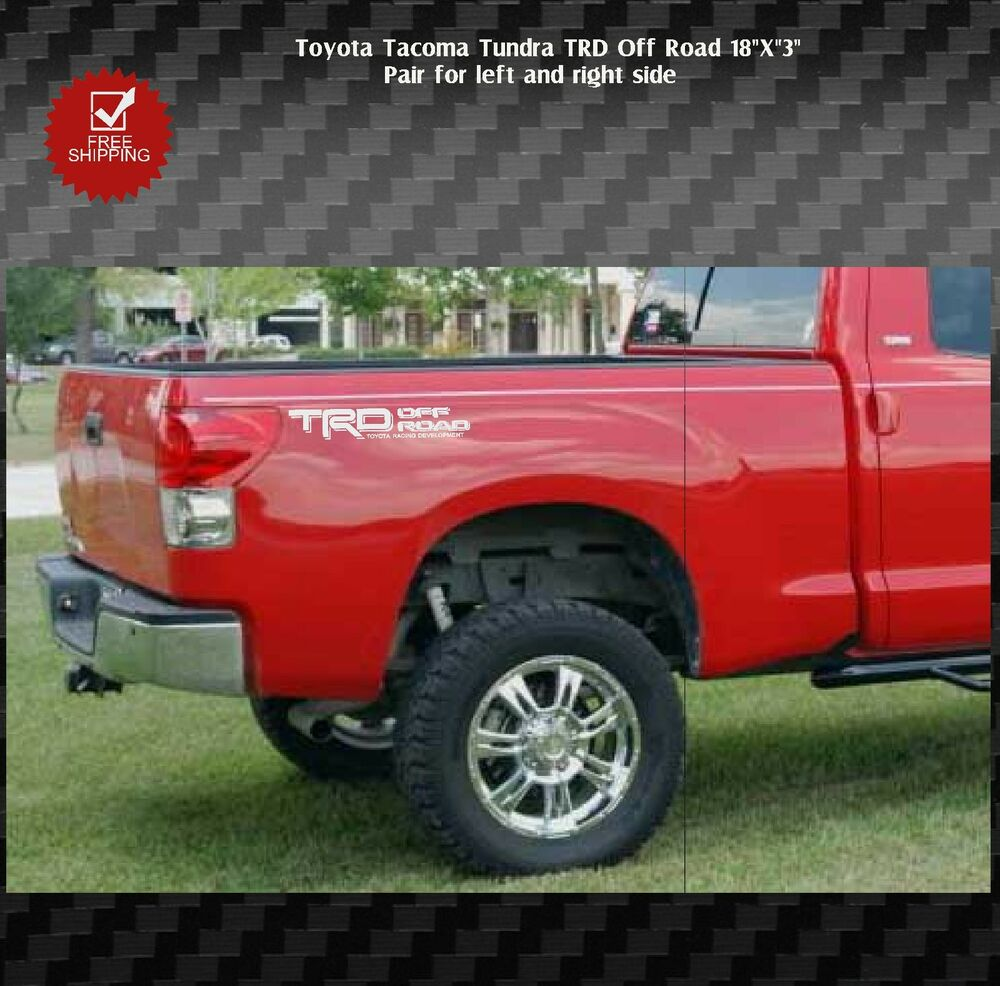 Toyota Tacoma Tundra Trd Off Road Bed Side Graphics Decals