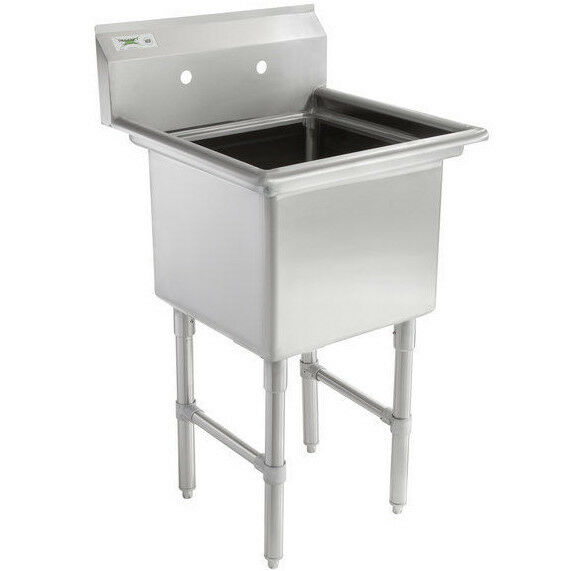 restaurant kitchen sinks stainless steel 23 quot 16 stainless steel one compartment 7774