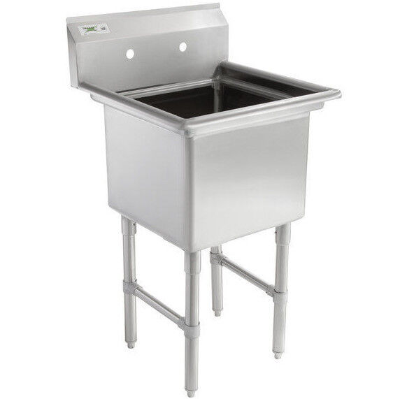 "23"" 16-Gauge Stainless Steel One Compartment Commercial"