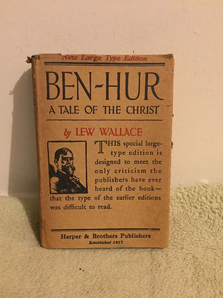 Ben Hur A Tale Of The Christ By Lew Wallace 1922 Hcdj Ebay