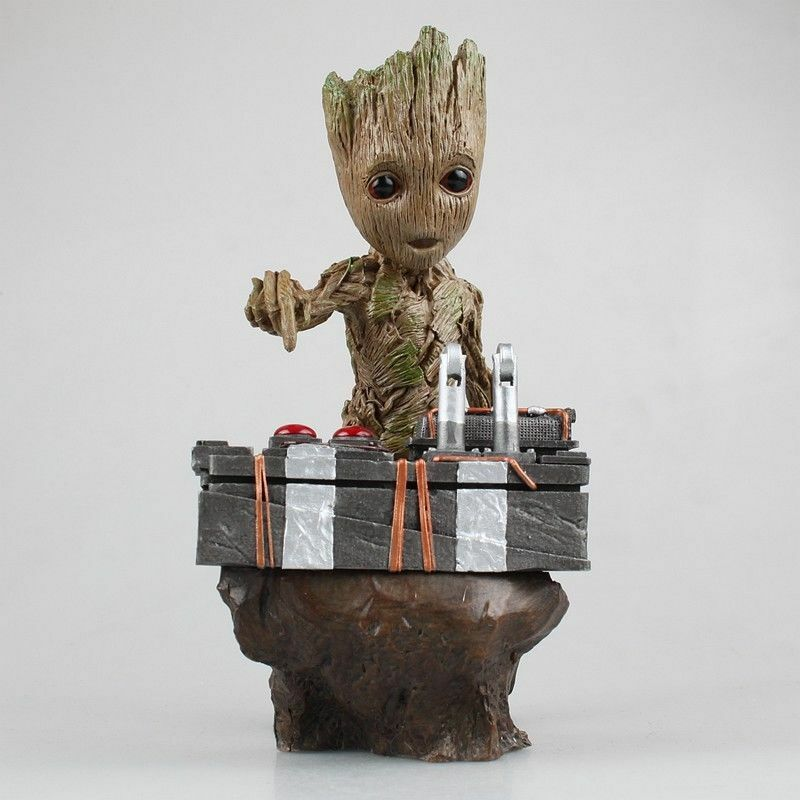 guardians of the galaxy vol 2 baby groot figure movie scene statue new in box ebay. Black Bedroom Furniture Sets. Home Design Ideas