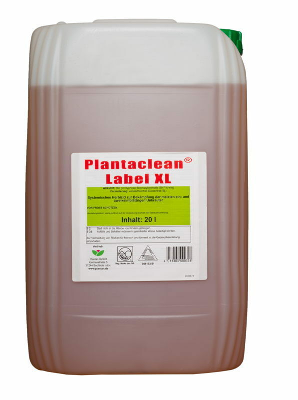 20 liter plantaclean label xl unkrautvernichter rm roundup. Black Bedroom Furniture Sets. Home Design Ideas