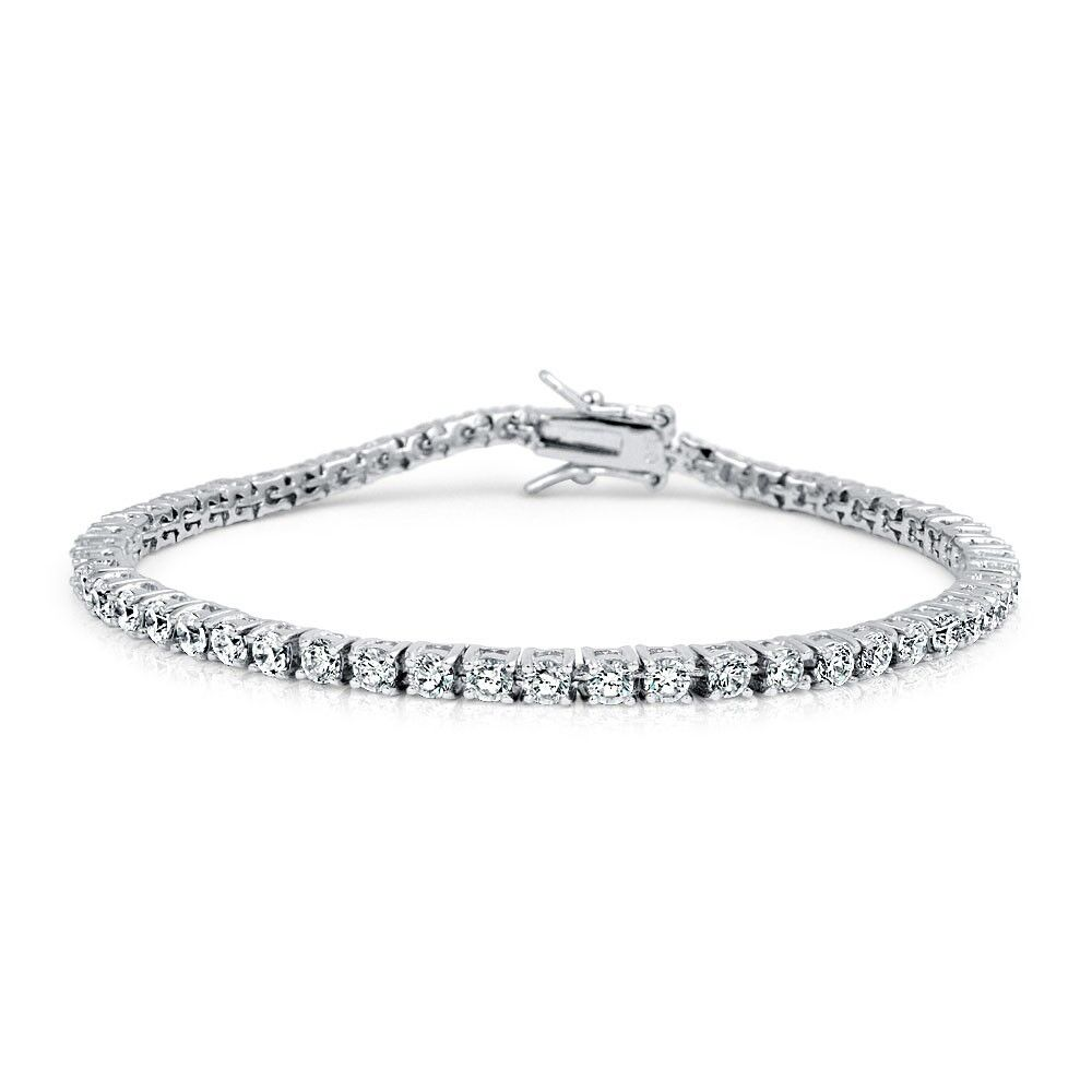 mens hip hop silver white gold tennis chain bracelet ebay. Black Bedroom Furniture Sets. Home Design Ideas
