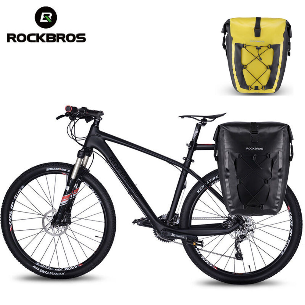 805f3da38f Details about ROCKBROS Waterproof Pannier Bag Cycling Bike Travel Bicycle  Rear Seat Carrier