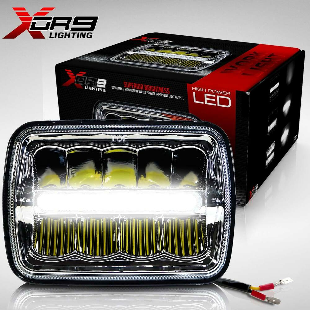 2x led headlight sealed beam headlamp for chevy express. Black Bedroom Furniture Sets. Home Design Ideas