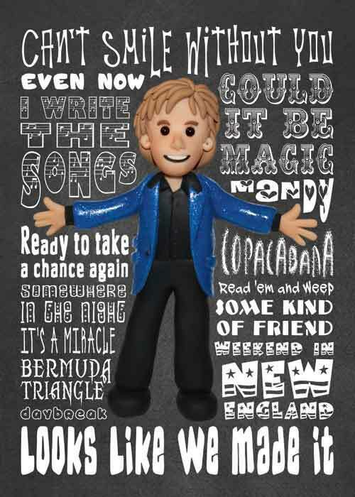 Inspired By Barry Manilow Greeting Birthday Card Ebay