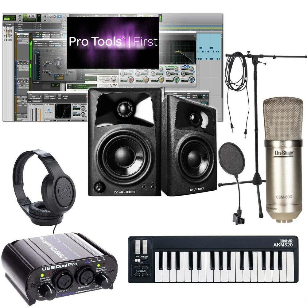 home recording bundle studio package midi 32 m audio art software free ship ebay