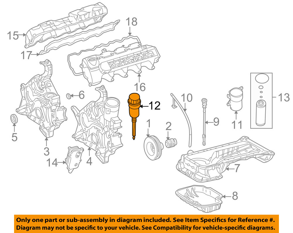 Mercedes C32 Amg Engine Diagram Wiring Will Be A Thing C320 Oem 01 05 Oil Filter 1121800710 Ebay Rh Com E43