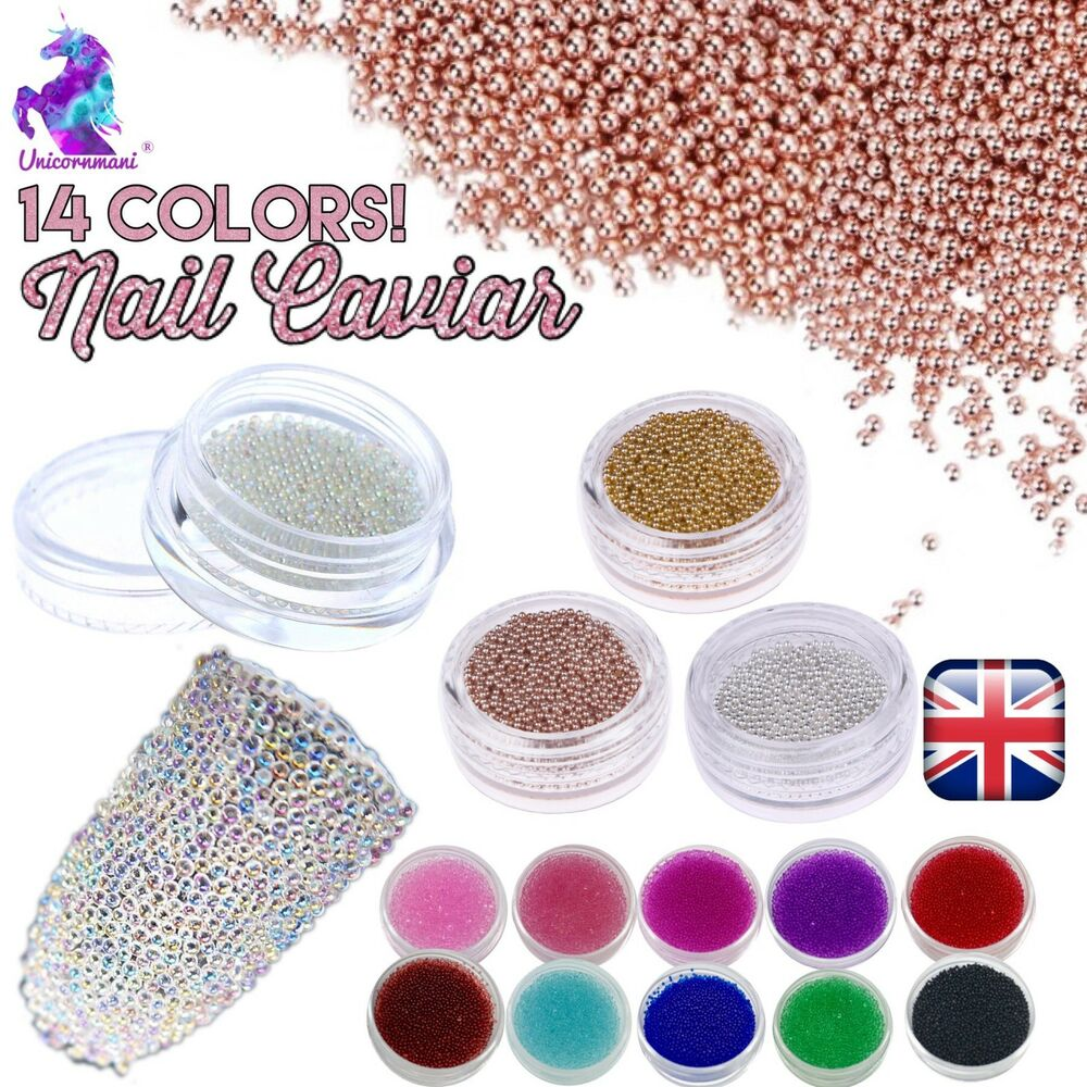 Caviar beads rose gold crystal 3d micro ball pixie nail for Decoration maison rose gold