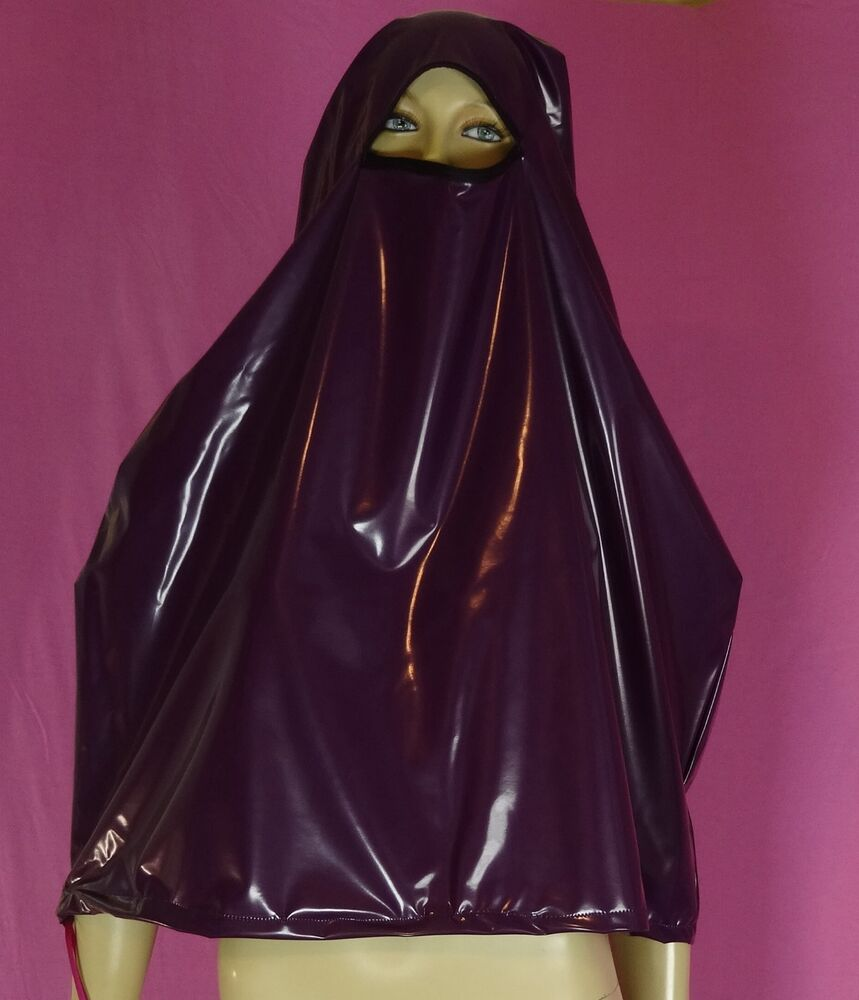 regen burka niqap maske purple pvc neu diargh ebay. Black Bedroom Furniture Sets. Home Design Ideas