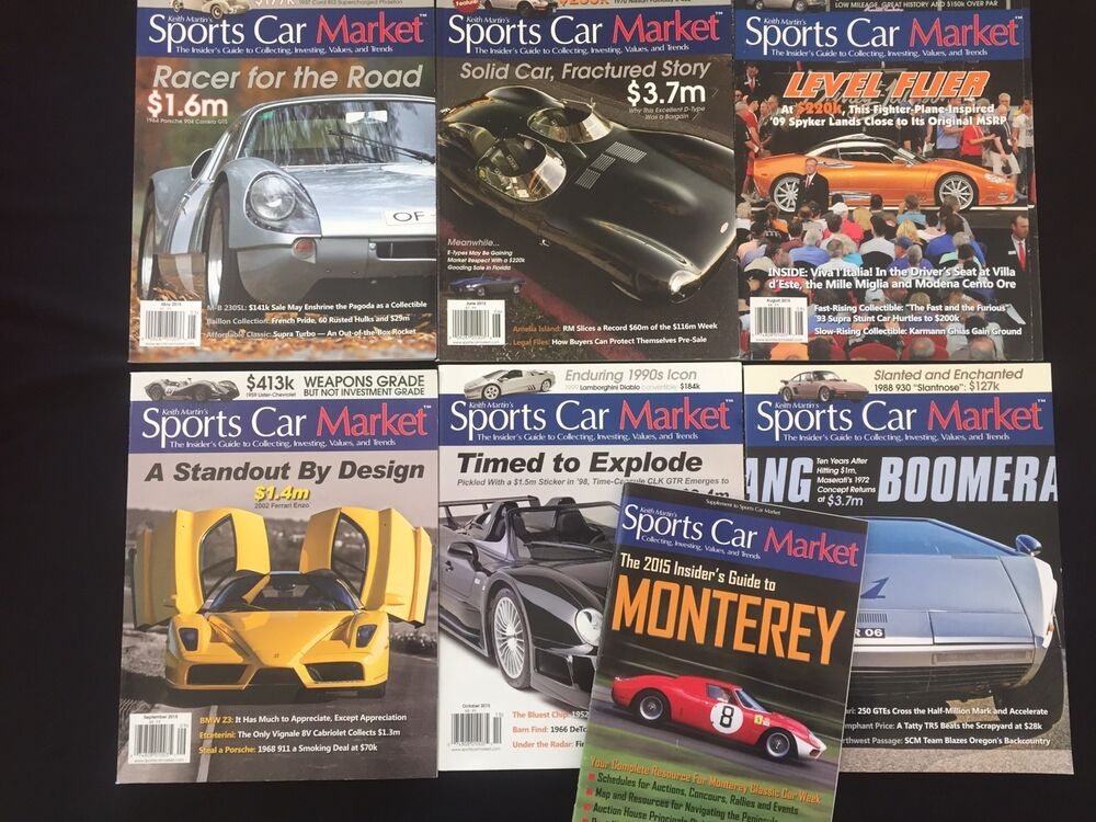 keith martins sports car market 2015 lot of magazines and supplement 11th ed ebay. Black Bedroom Furniture Sets. Home Design Ideas