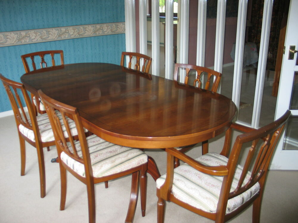 Yew Dining Room Table And 6 Chairs William Bartletts