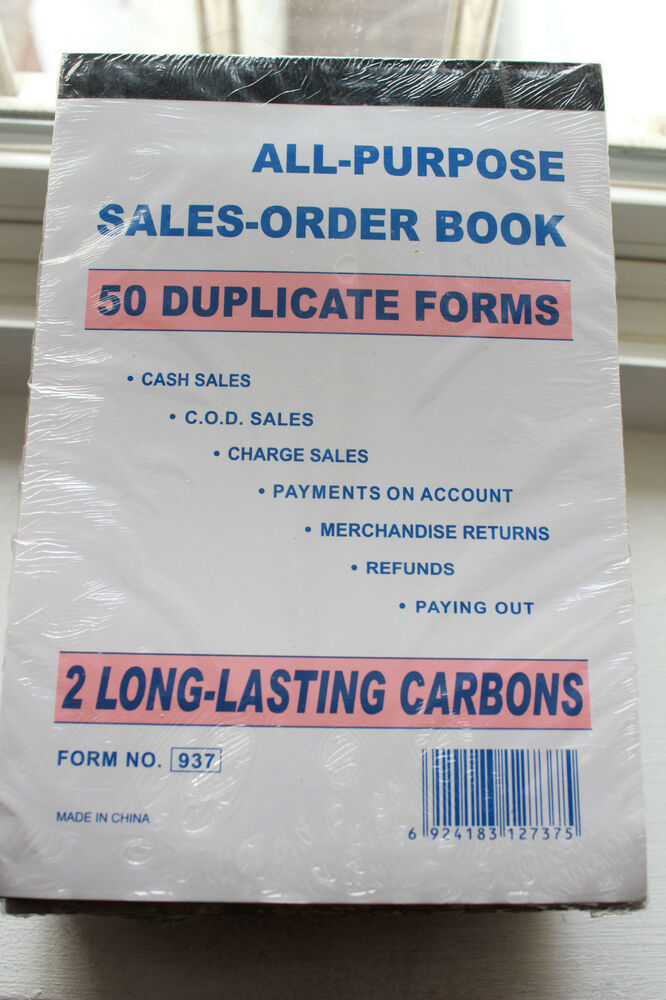 Sales Order Receipt Carbonless Invoice Form Book Wholesale