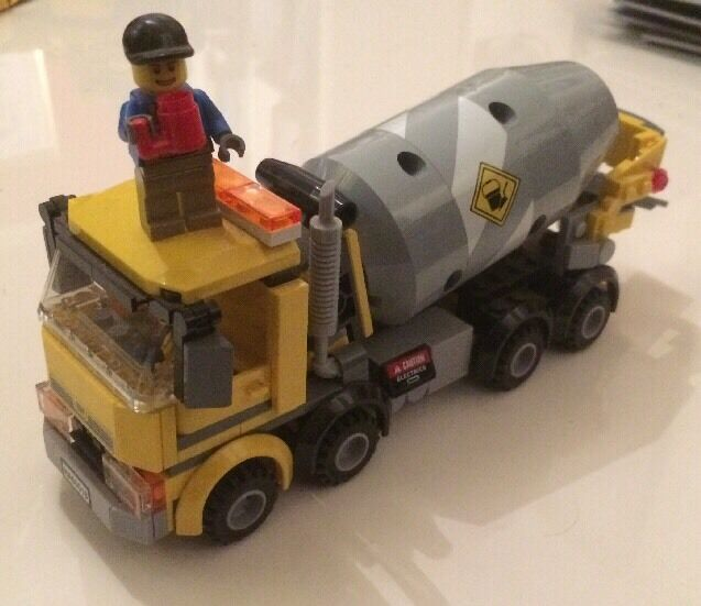 60018 Lego City Cement Mixer Comes Assembled No Box Or Instructions