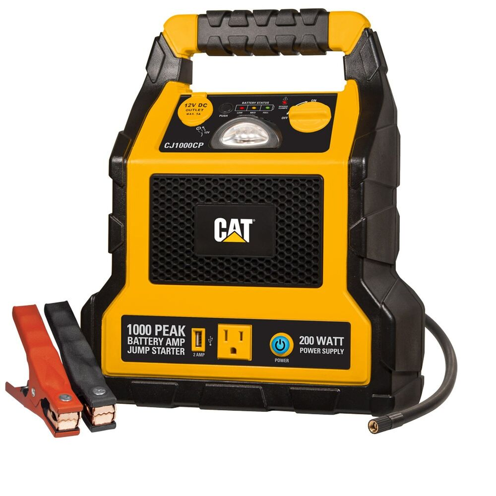 jump start battery cat 1000 peak amp battery jump starter power station 11108