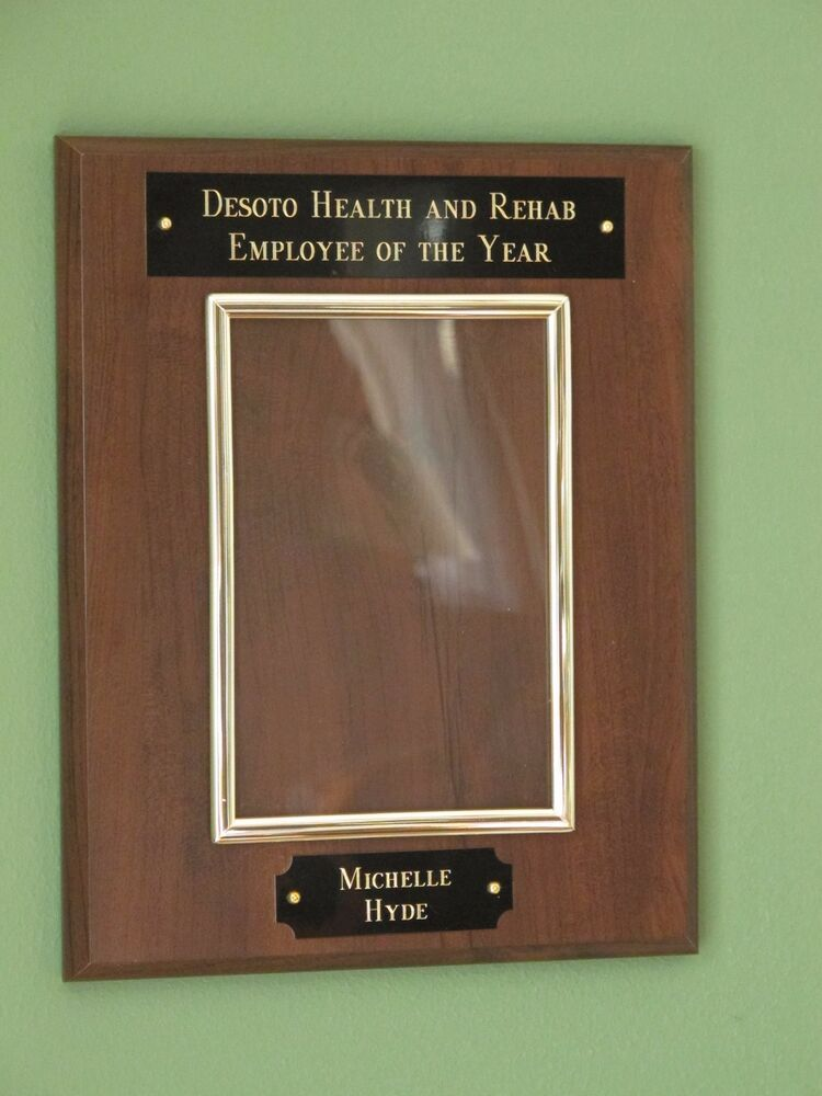 Employee Of The Year Plaque 8x10 Board W 4x6 Picture