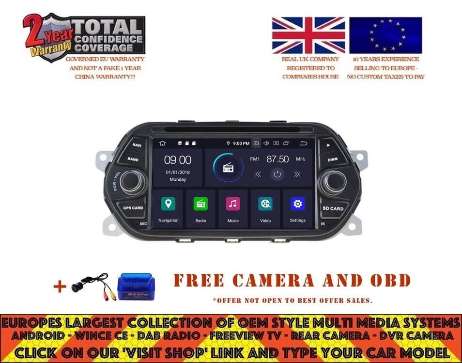 autoradio dvd gps navi android 8 0 4gb dab bluetooth for. Black Bedroom Furniture Sets. Home Design Ideas