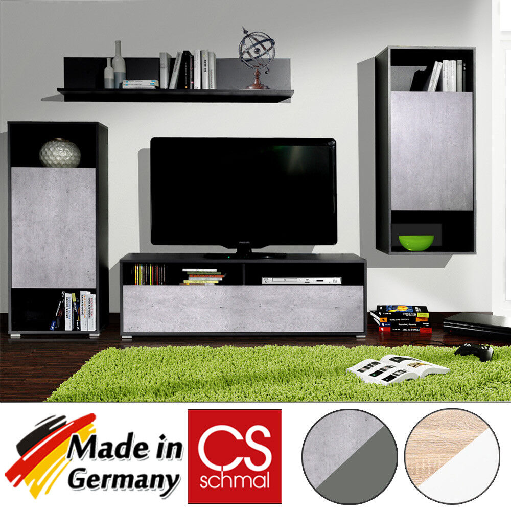 wohnwand anbauwand schrankwand tv wand wohnzimmerschrank media schrank modern ebay. Black Bedroom Furniture Sets. Home Design Ideas