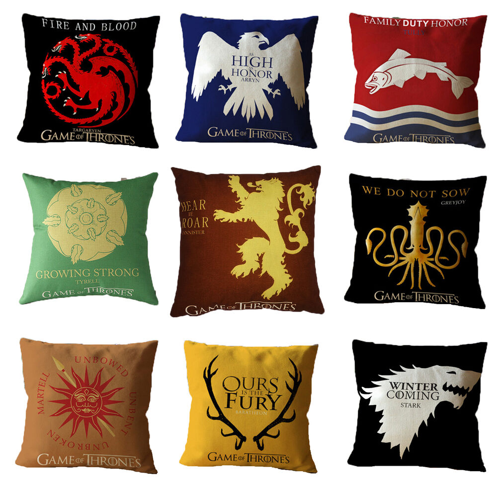 game of thrones kissenbez ge kissenbezug kissenh lle sofakissen kissen h lle ebay. Black Bedroom Furniture Sets. Home Design Ideas