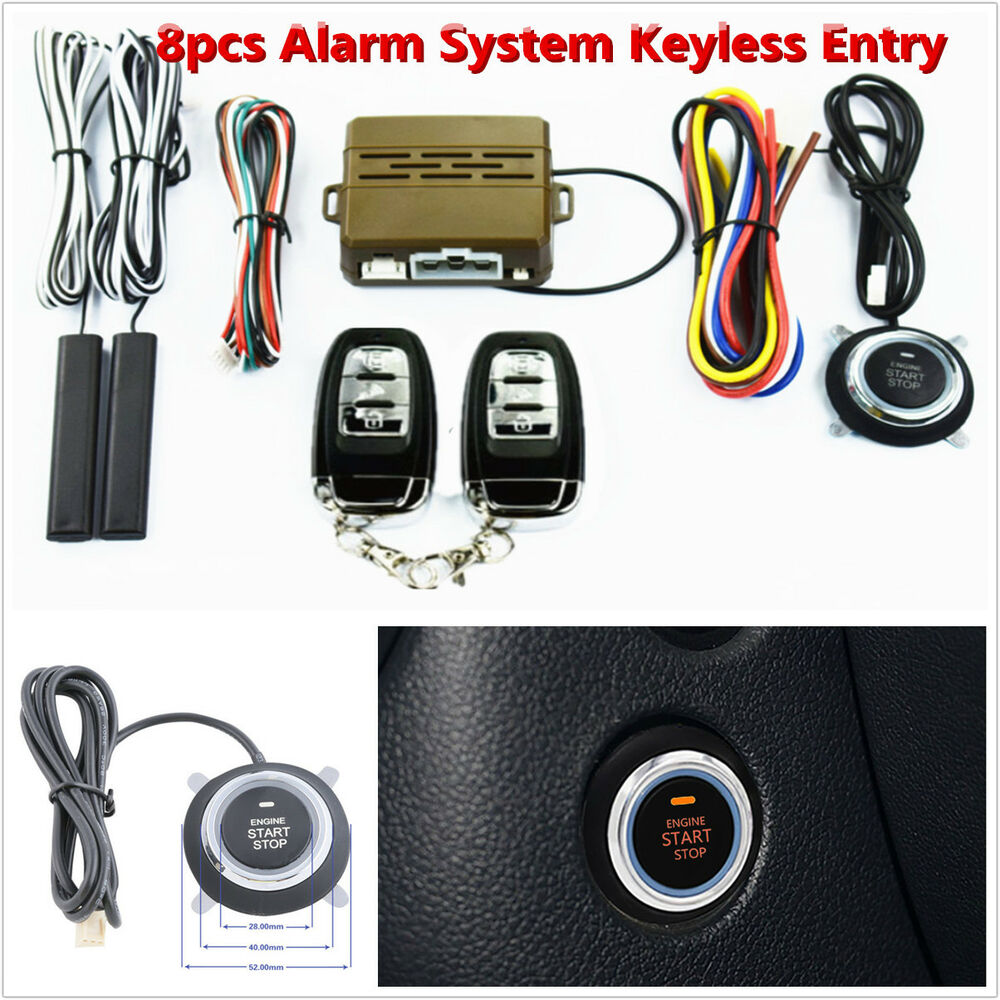 keyless entry car security alarm system push button. Black Bedroom Furniture Sets. Home Design Ideas