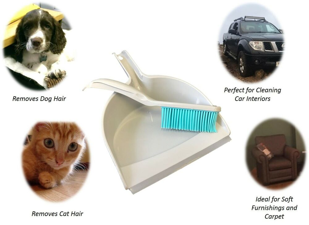 Pet Hair Remover Dustpan And Rubber Hand Brush Dog Cat Hair Cleaning