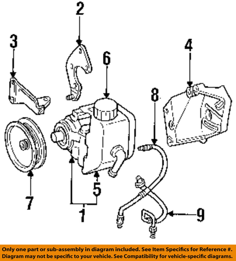 2001 Jeep Grand Cherokee Power Steering Pump Diagram Great 1998 Wiring Chrysler Oem 93 98 Pressure Hose Rh Ebay Com Transmission