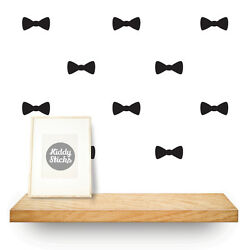 Bow Tie Shaped Wall Stickers - 15 Colours Available: UK seller - Free P&P