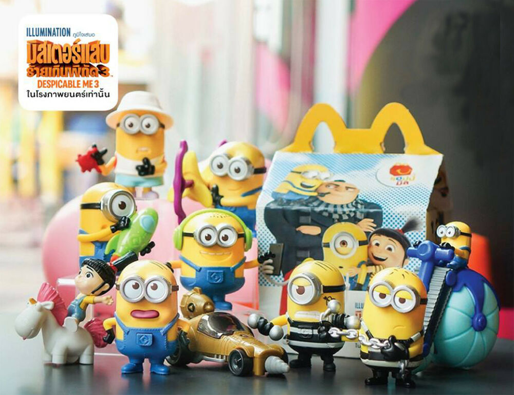 SET of 10 Minion Despicable Me 3 McDonald's Happy Meal ...