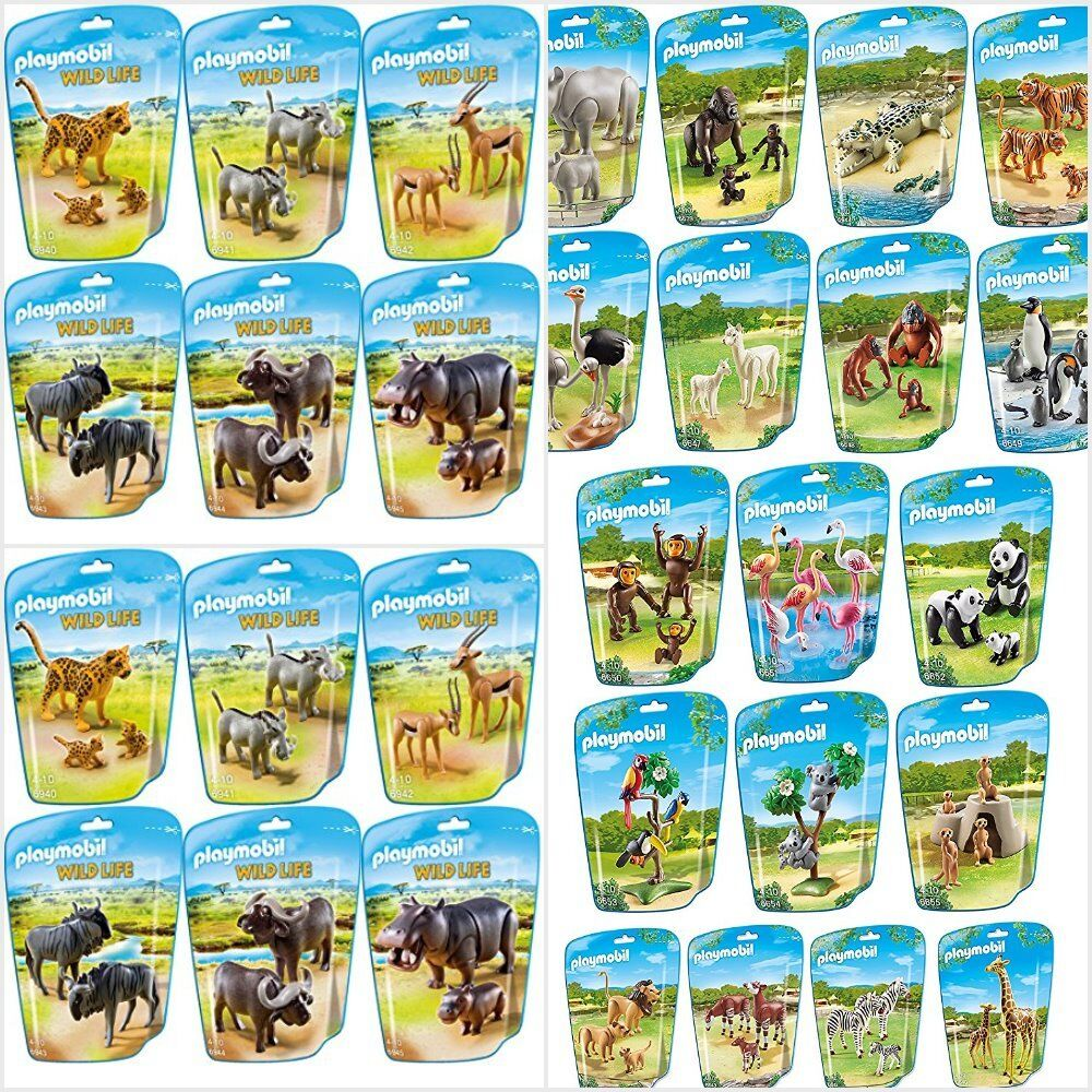 playmobil animals city life zoo wild life assortment ebay. Black Bedroom Furniture Sets. Home Design Ideas