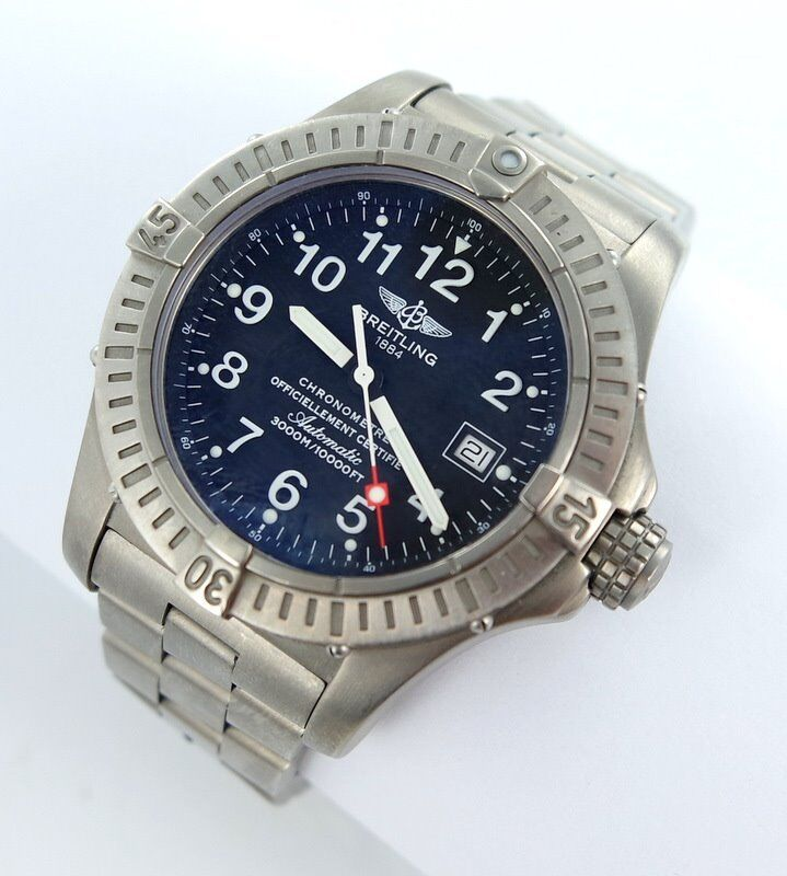 Breitling avenger seawolf automatic men 39 s watch ref e17370 titan ebay for Avengers watches