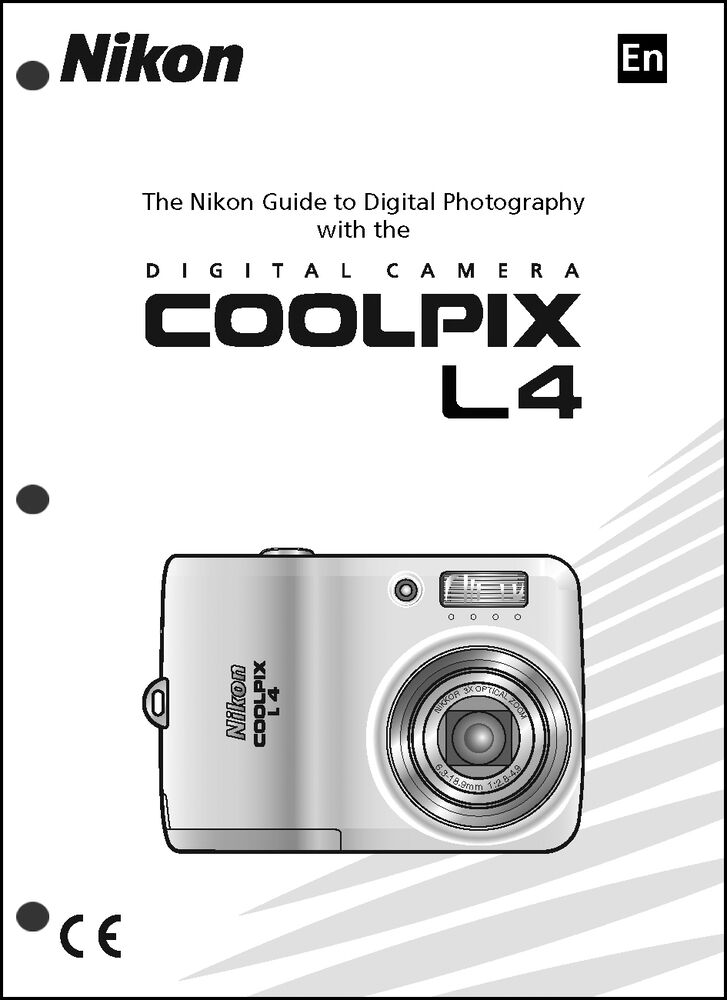nikon coolpix l4 digital camera user guide instruction manual ebay rh ebay com manual nikon coolpix l120 Nikon Cool Pix Instruction Manual