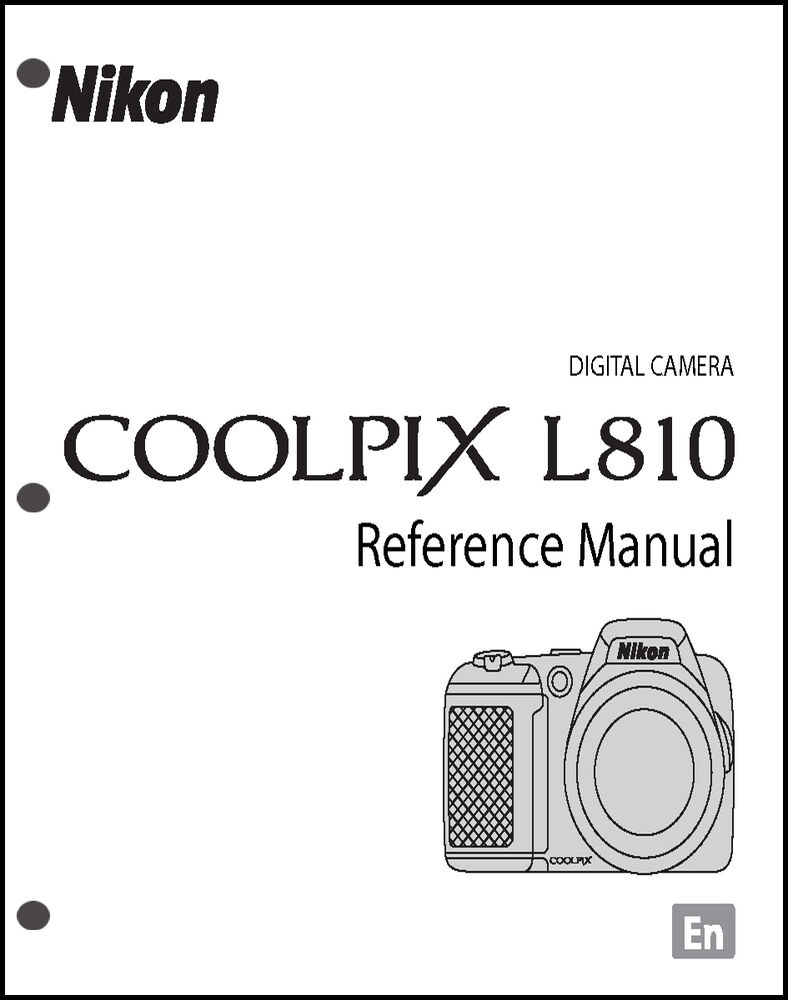 nikon coolpix l810 digital camera user guide instruction manual ebay rh ebay com Nikon Coolpix P500 User Manual Owners Manual Nikon Coolpix